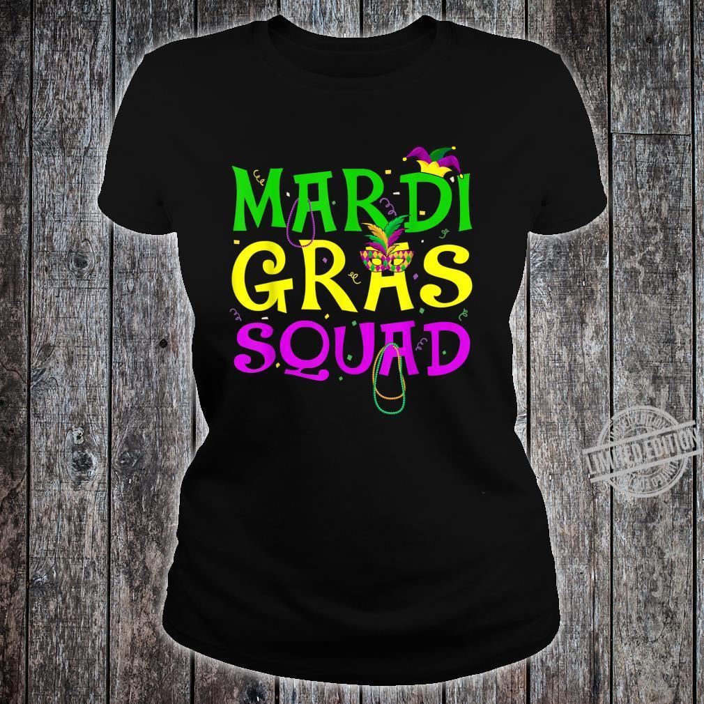 Mardi Gras Squad Carnival Shirt ladies tee