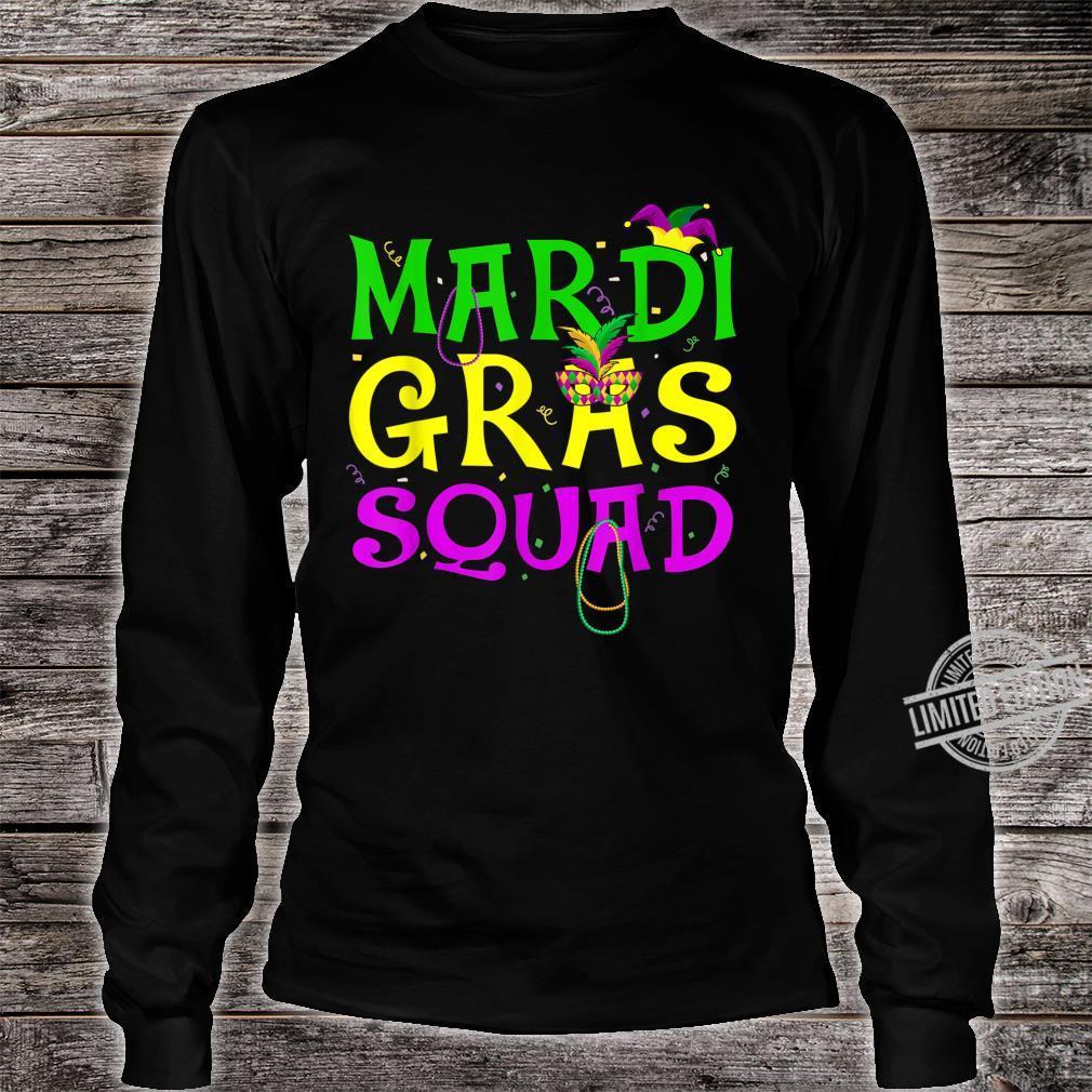 Mardi Gras Squad Carnival Shirt long sleeved