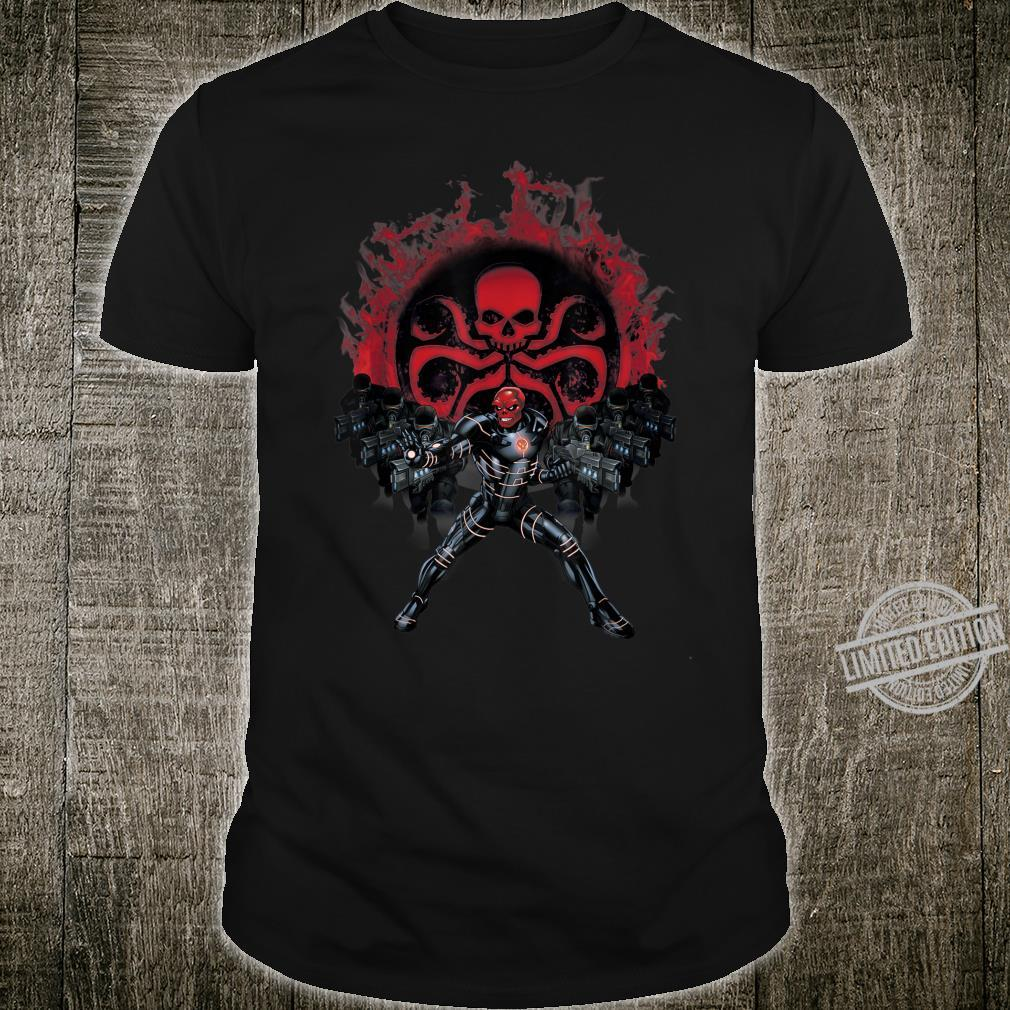 Marvel Hydra Recruits And Red Skull Flame Poster Shirt