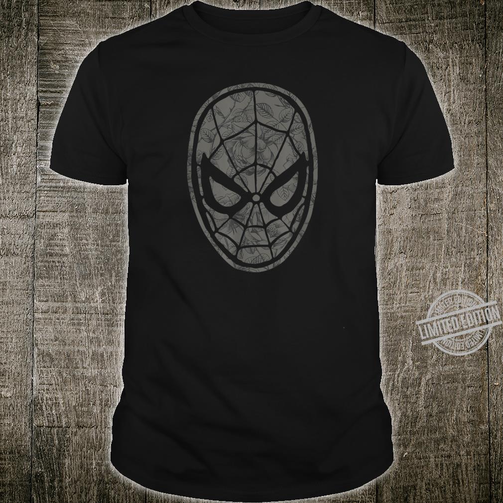 Marvel SpiderMan Dark Tones Floral Mask Fill Shirt