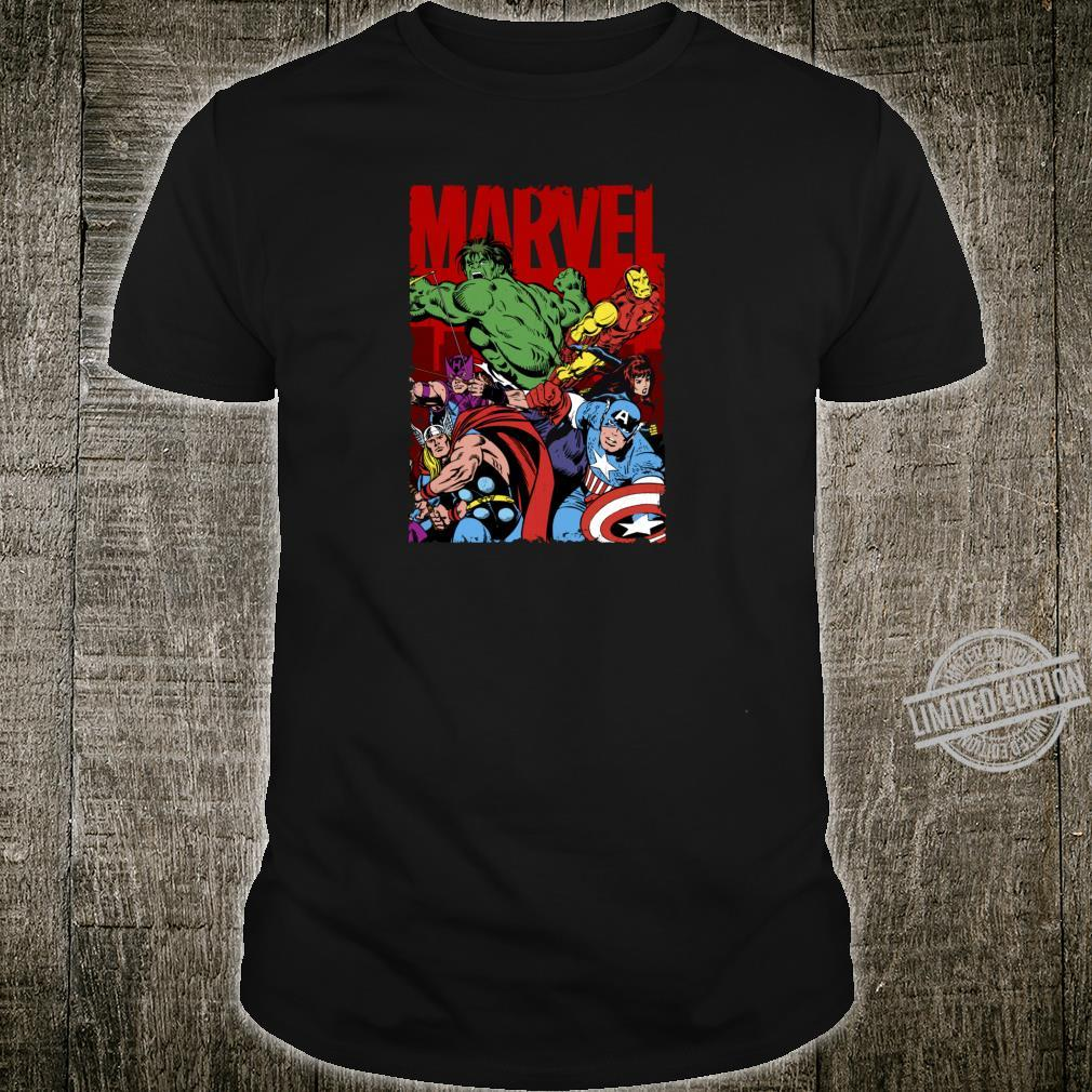 Marvel The Avengers Classic Comic Group Shot Poster Shirt