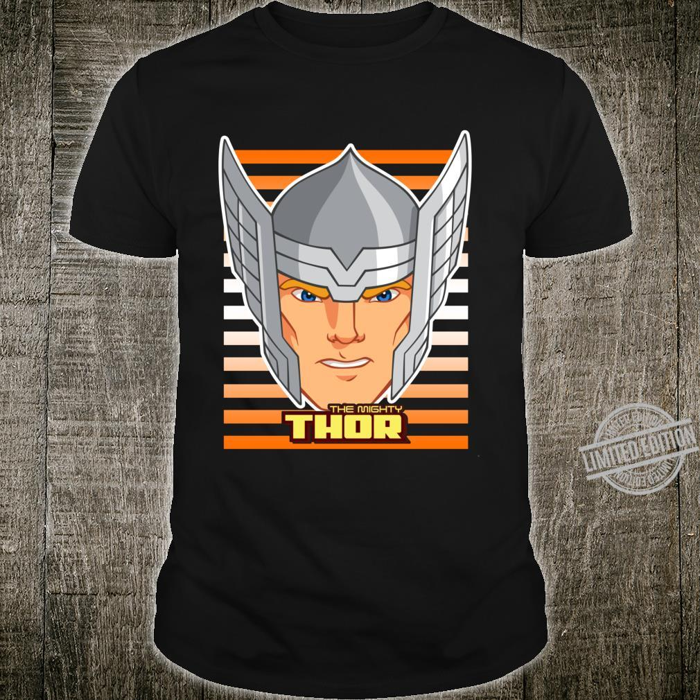 Marvel Thor Battle Helmet Striped Langarmshirt Shirt