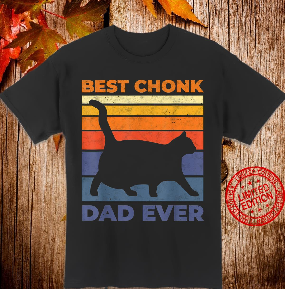 Mens Chonk Cat Scale Chonk Dad Meme Retro Memes Shirt