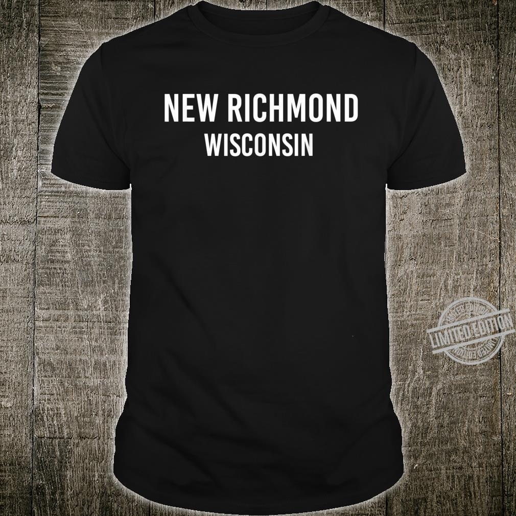 NEW RICHMOND WISCONSIN WI USA Patriotic Vintage Sports Shirt