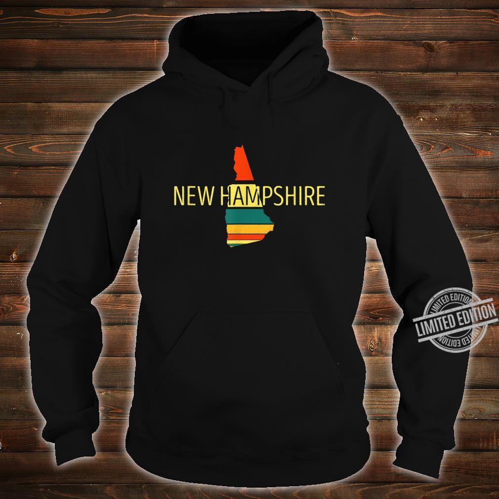 New Hampshire Karte im VintageStil Retro Souvenir Shirt hoodie