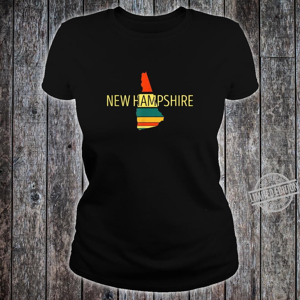 New Hampshire Karte im VintageStil Retro Souvenir Shirt ladies tee