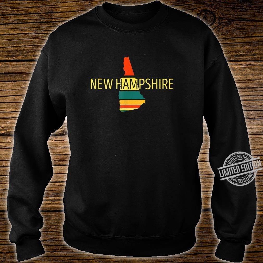 New Hampshire Karte im VintageStil Retro Souvenir Shirt sweater