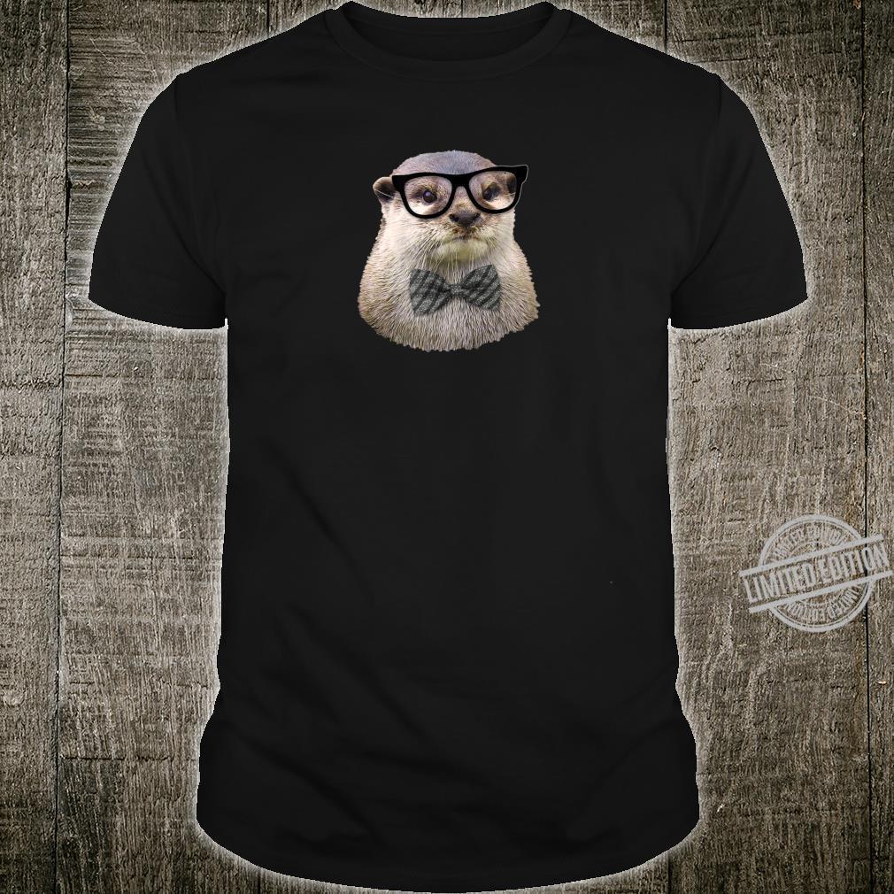 Otter Nerd Glasses Bow Tie Cute Animal Shirt