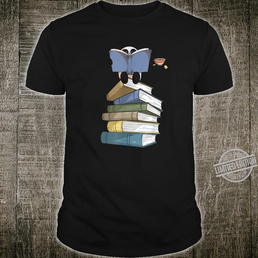 Panda Books and Drinking Tea Panda Bear Reading Shirt