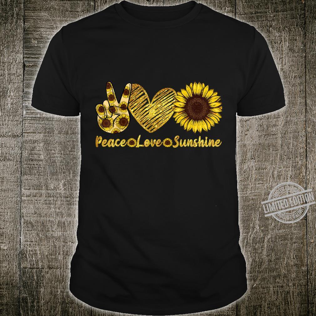 Peace Love Sunshine Sunflower Hippie summers Shirt