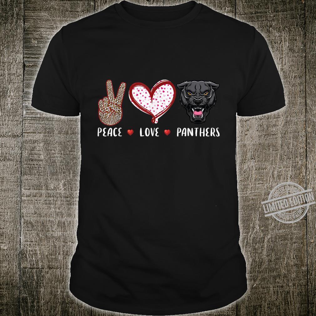 Peace love panthers boys girls black panther Shirt