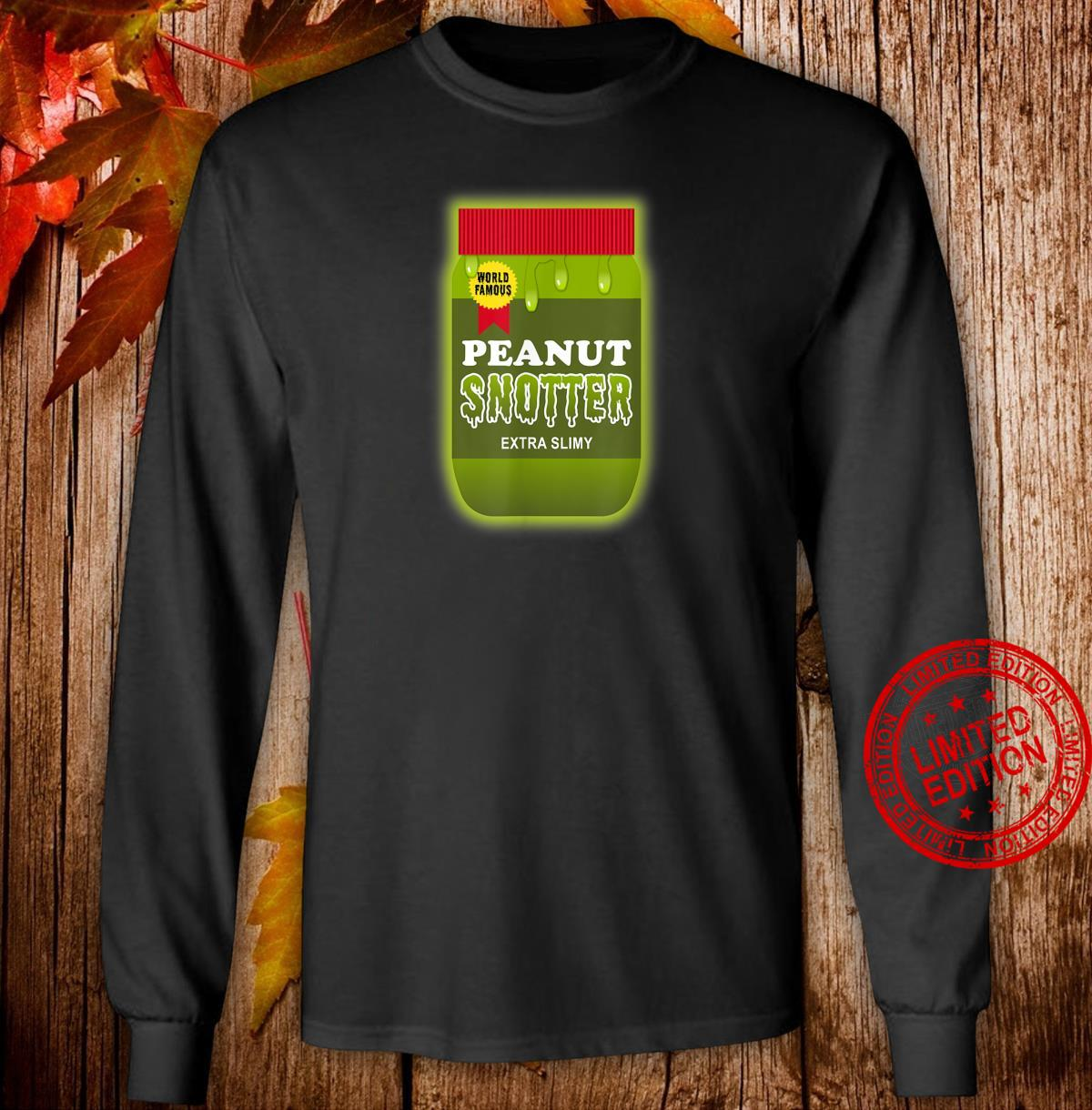 Peanut Butter Halloween Costume Disgusting Nostalgia Shirt long sleeved