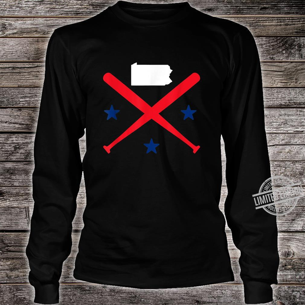 Philadelphia Baseball Stars Pennsylvania Map Outline Shirt long sleeved