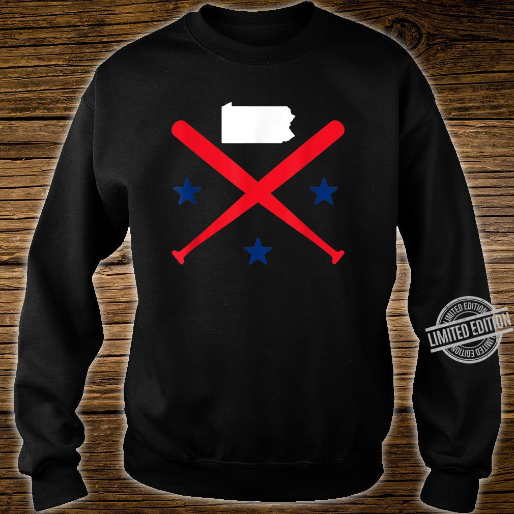 Philadelphia Baseball Stars Pennsylvania Map Outline Shirt sweater