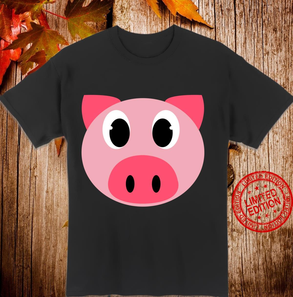 Pig Face Halloween Animal DIY Pig Costume Shirt
