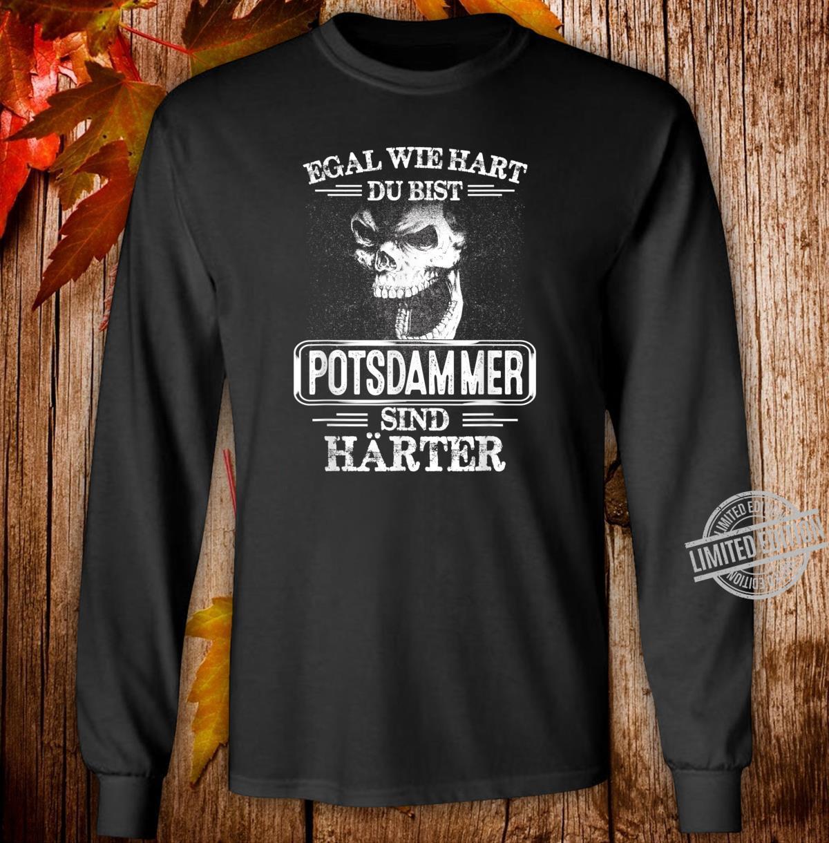 Potsdammer sind härter Städte Kleidung Stadt Potsdamm Shirt long sleeved