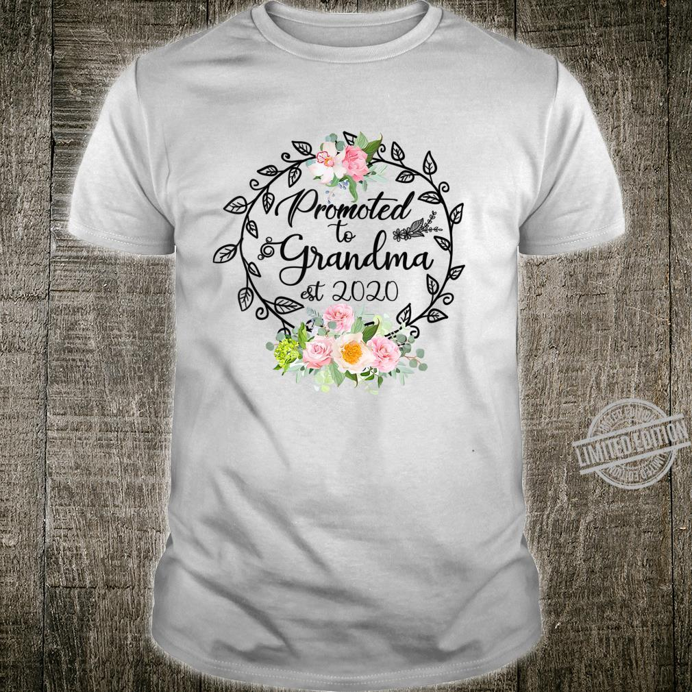 Promoted to Grandma Est 2020 Floral First Time Grandma Shirt