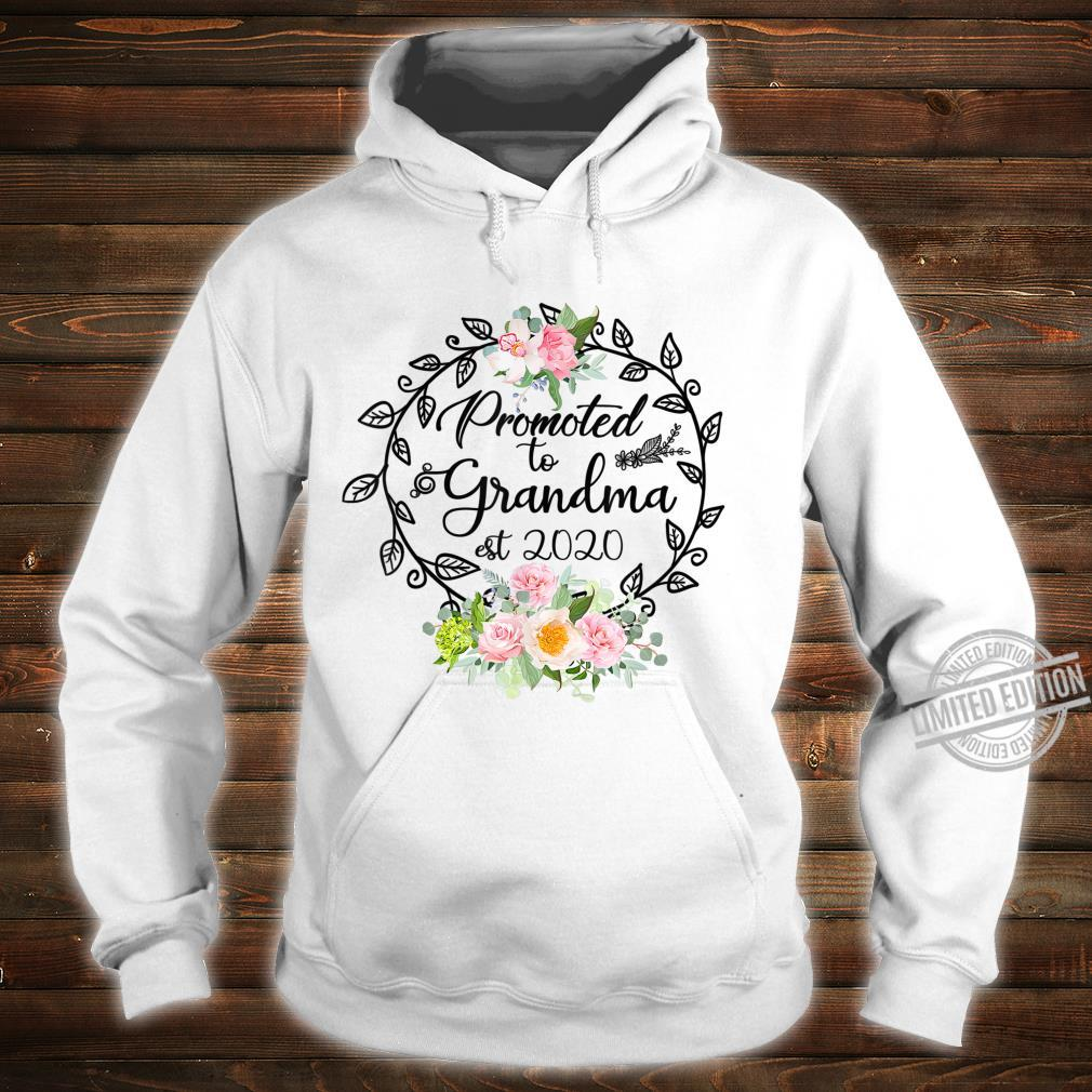 Promoted to Grandma Est 2020 Floral First Time Grandma Shirt hoodie