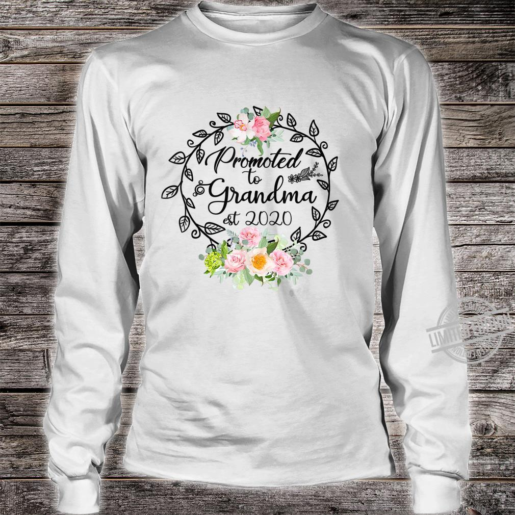 Promoted to Grandma Est 2020 Floral First Time Grandma Shirt long sleeved