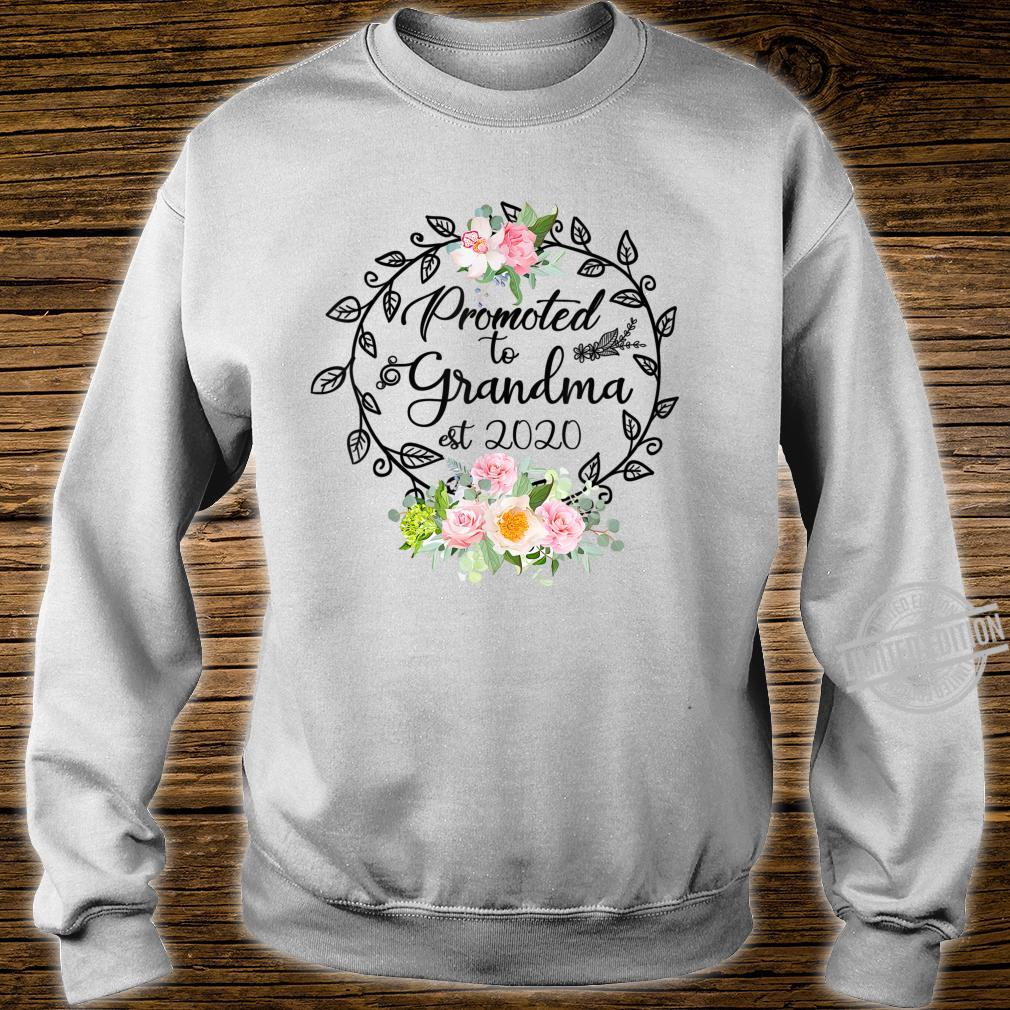 Promoted to Grandma Est 2020 Floral First Time Grandma Shirt sweater