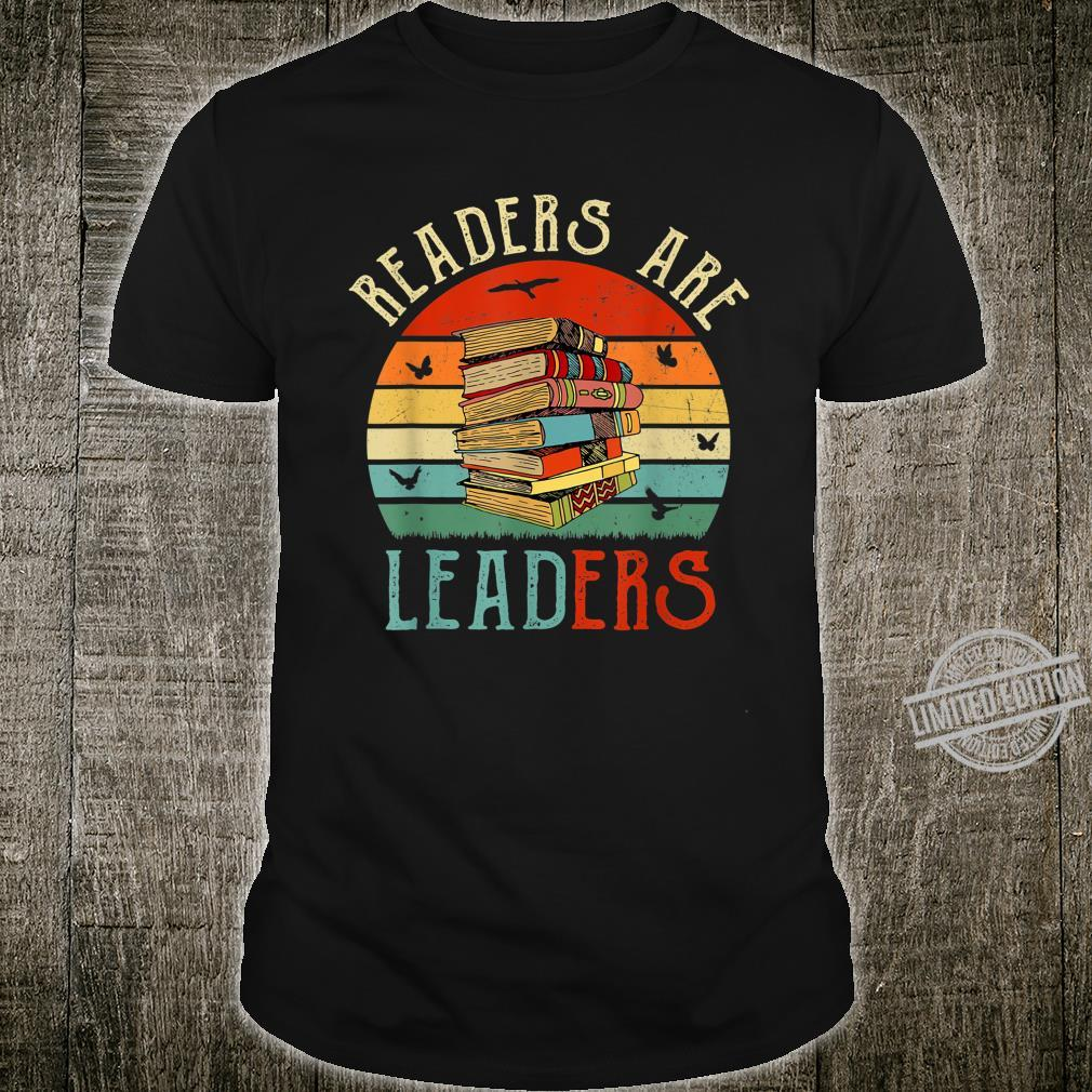 Readers Are Leaders Vintage Reading Book Librarian Teacher Shirt