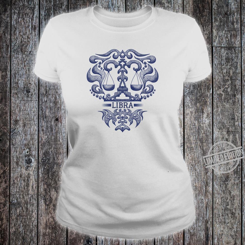 Retro Libra Zodiac Birthday Vintage Zodiac Sign Shirt ladies tee