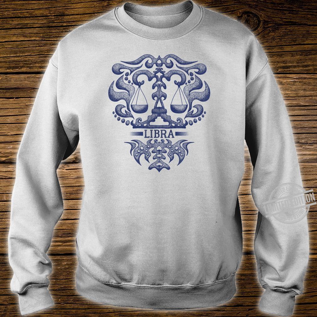 Retro Libra Zodiac Birthday Vintage Zodiac Sign Shirt sweater