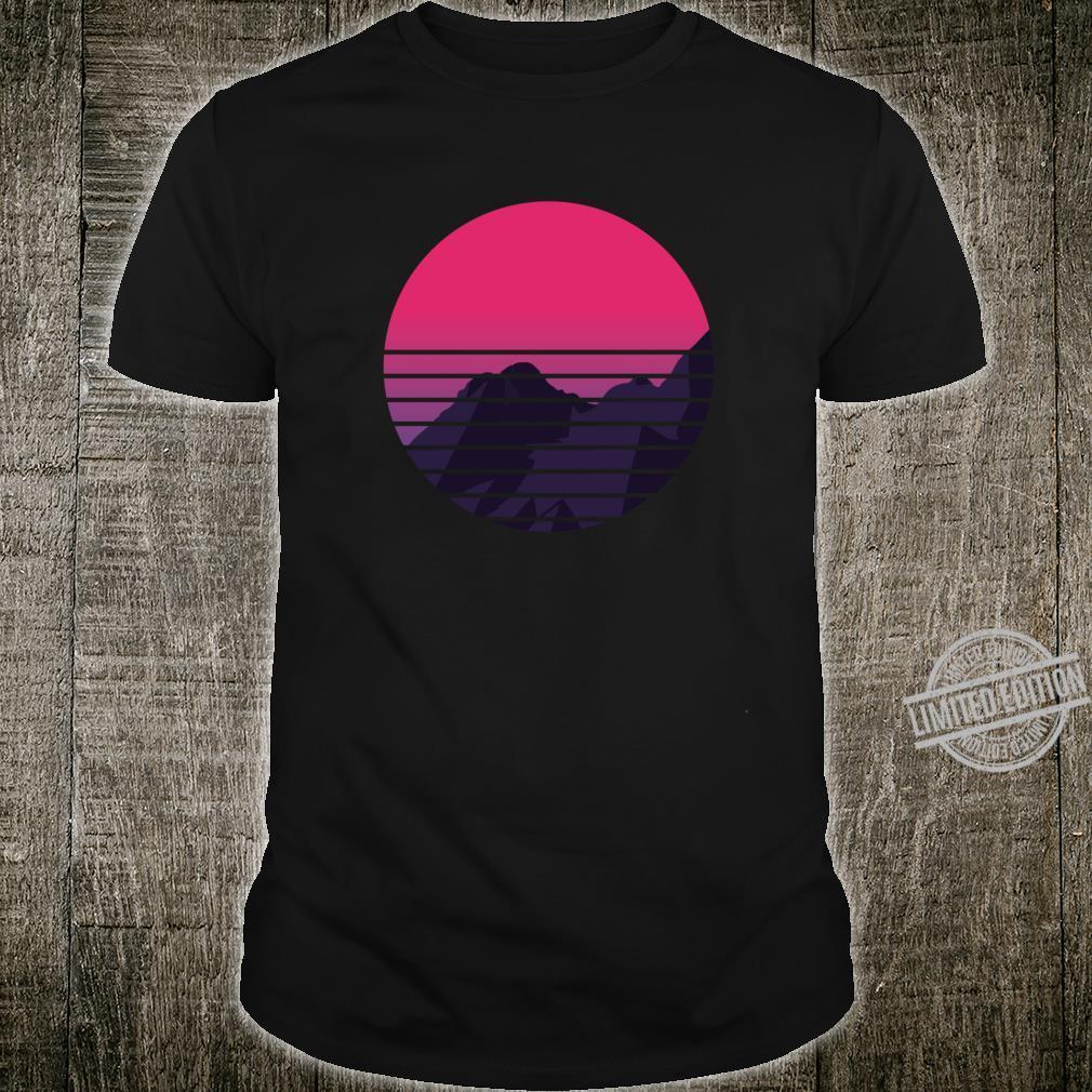 Retro Sunset Mountain Vaporwave Retrowave Aesthetic Clothing Shirt