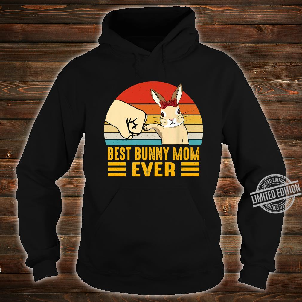 Retro Vintage Best Bunny Mom Ever Rabbit Easter Day Shirt hoodie