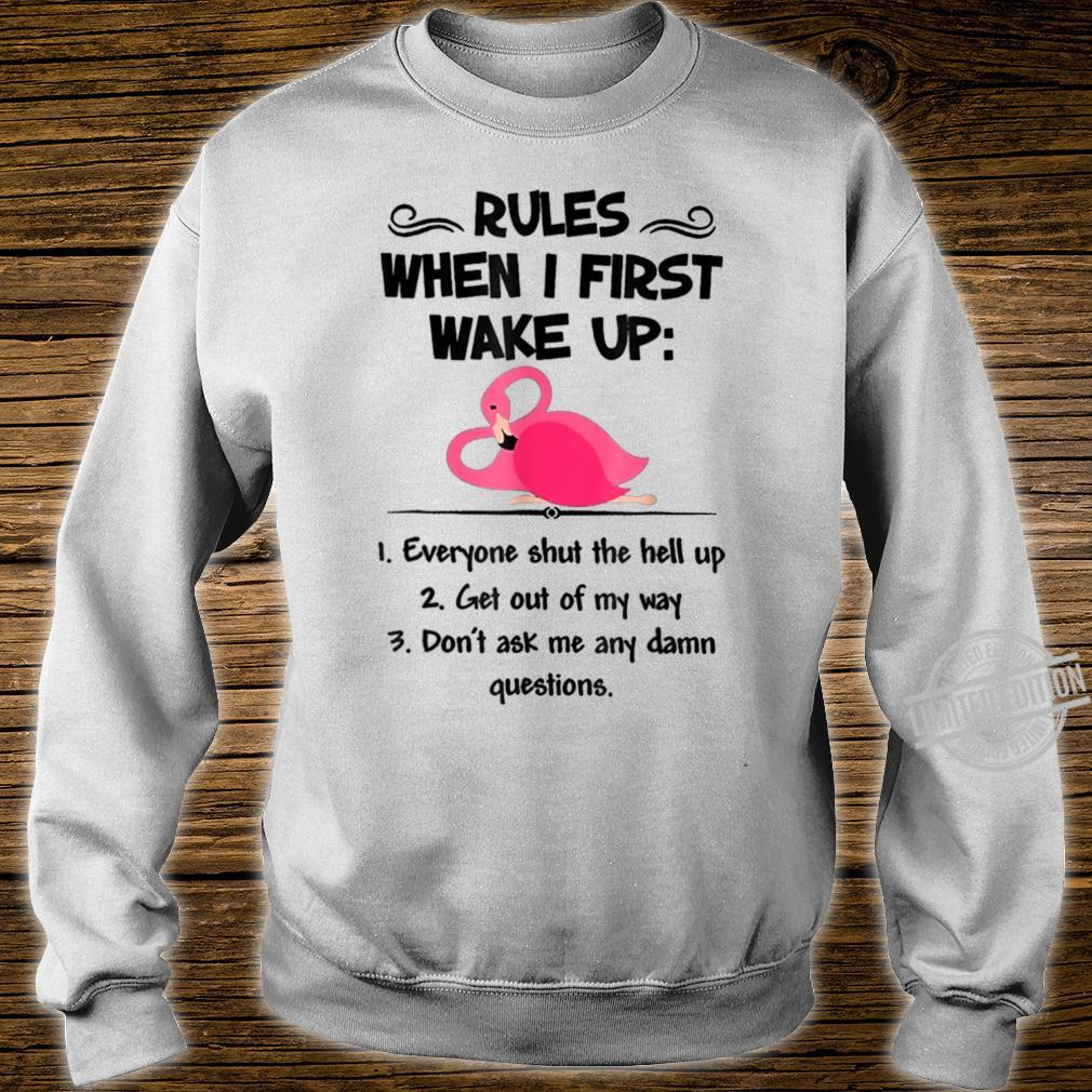 Rules When I First Wake Up Everyone Shut The Hell Up Shirt sweater
