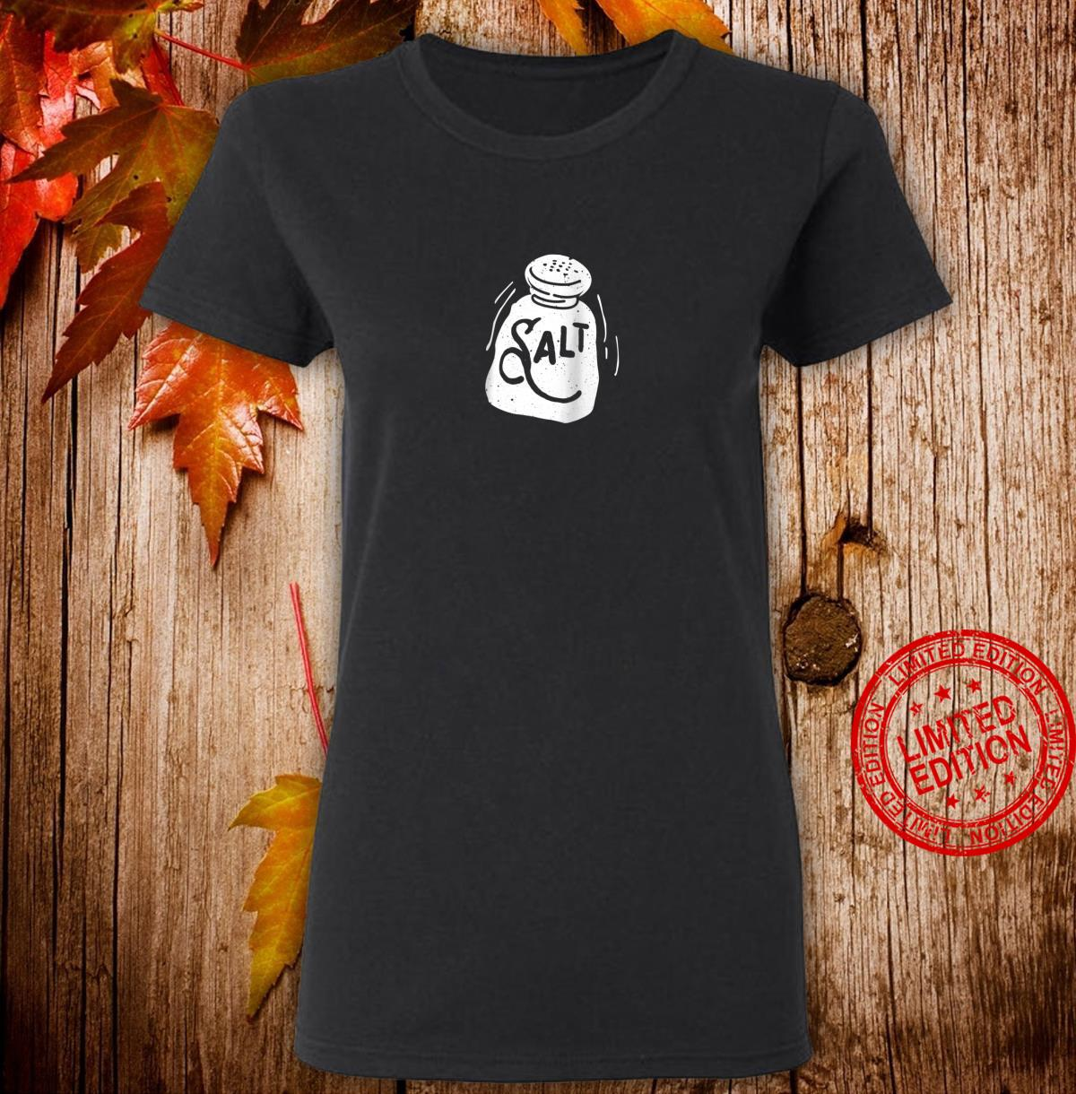 'Salt and Pepper' Shaker Matching Halloween Costume Shirt ladies tee