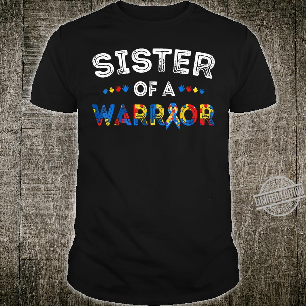 Sister Of A Warrior Shirt Autism Awareness Shirt