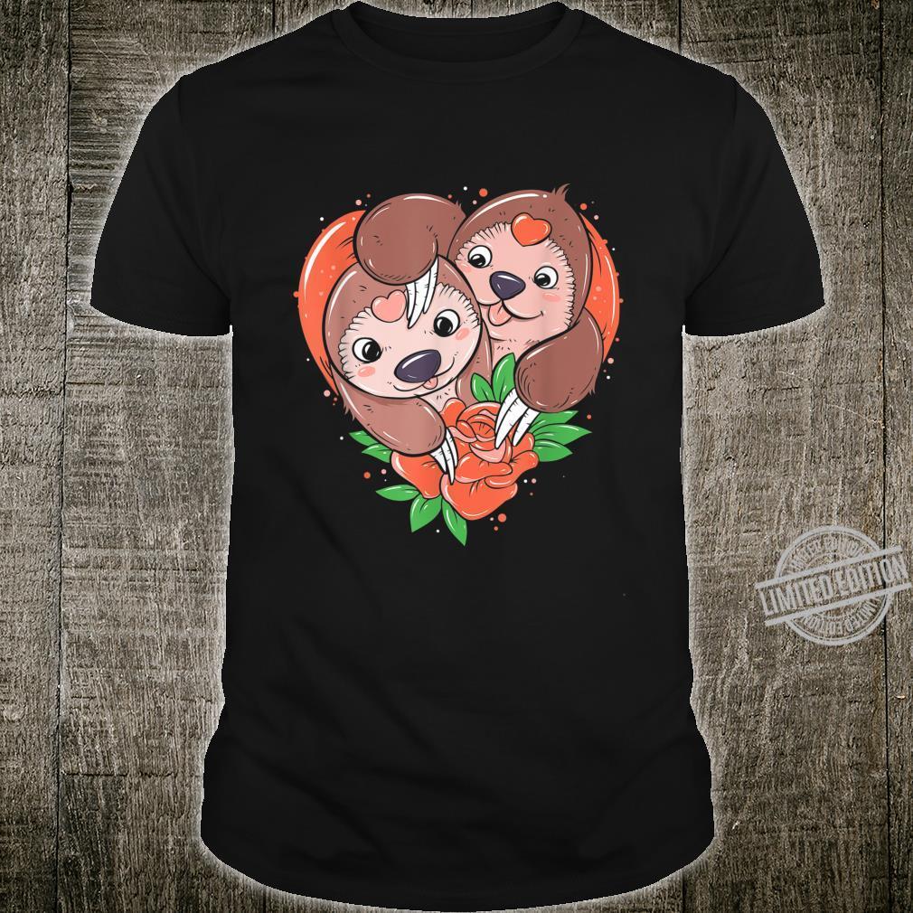 Sloth Liebe Für Paar Männer Frauen Valentinstag Geschenk Shirt
