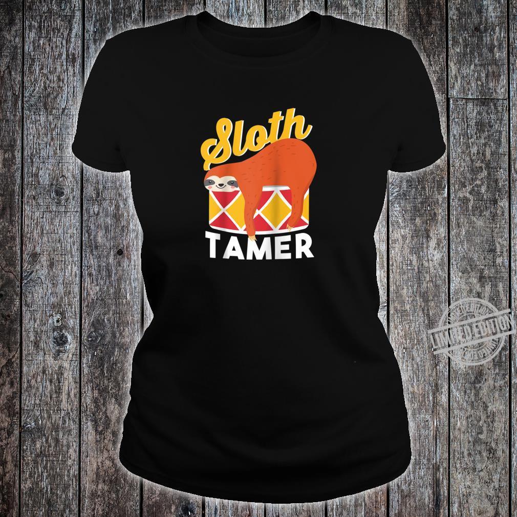 Sloth Tamer Spirit Animal Cute Baby Sloth Pet Shirt ladies tee