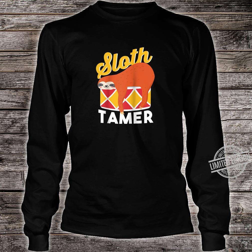 Sloth Tamer Spirit Animal Cute Baby Sloth Pet Shirt long sleeved