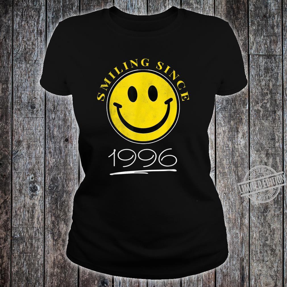 Smiling Since 1996 24th Birthday 24 Year Old Emoji Shirt ladies tee