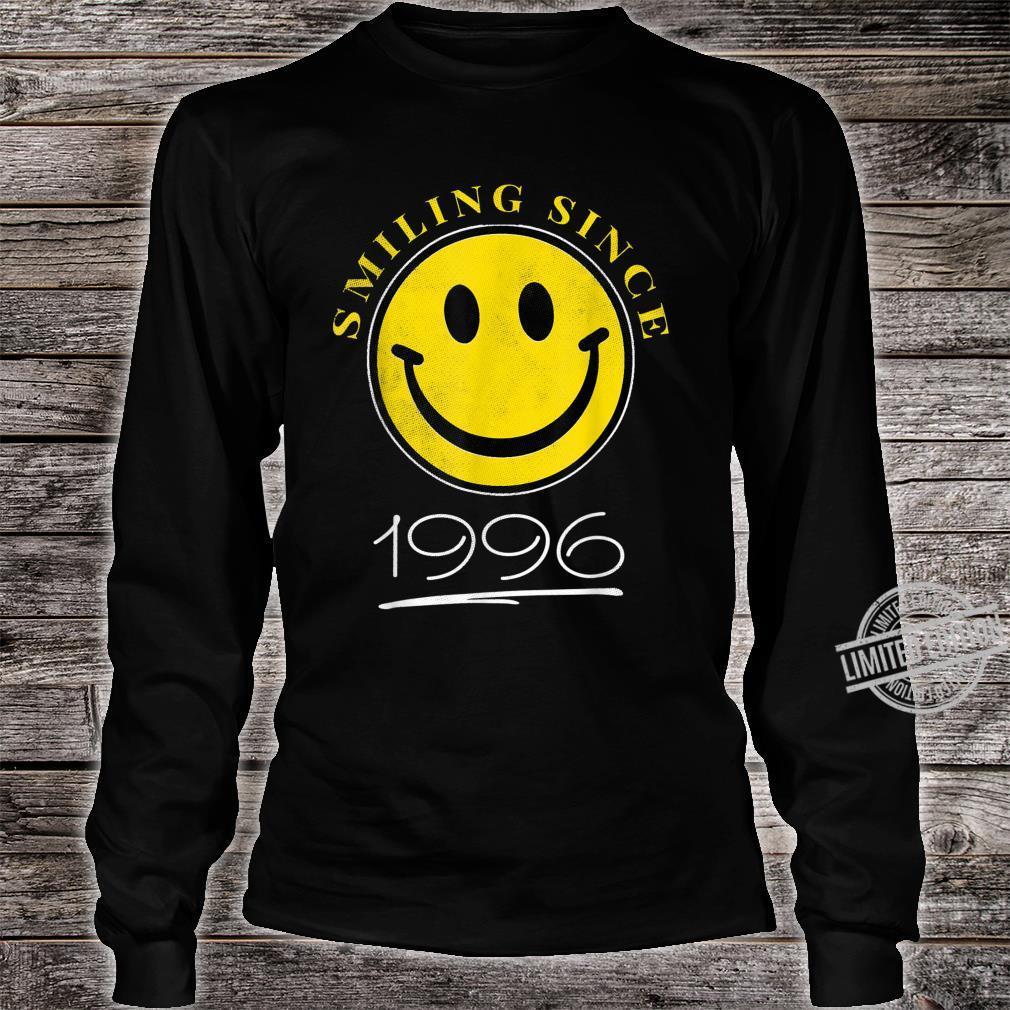 Smiling Since 1996 24th Birthday 24 Year Old Emoji Shirt long sleeved