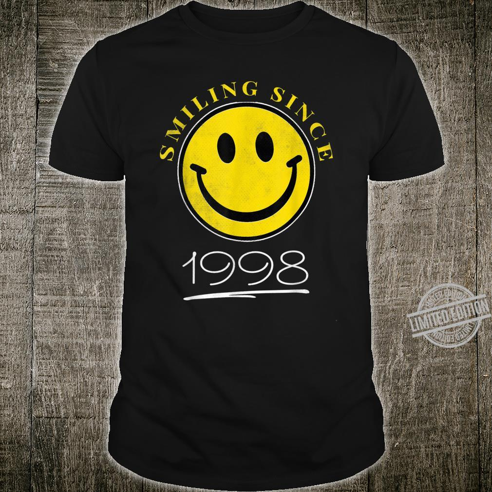 Smiling Since 1998 22nd Birthday 22 Year Old Emoji Shirt