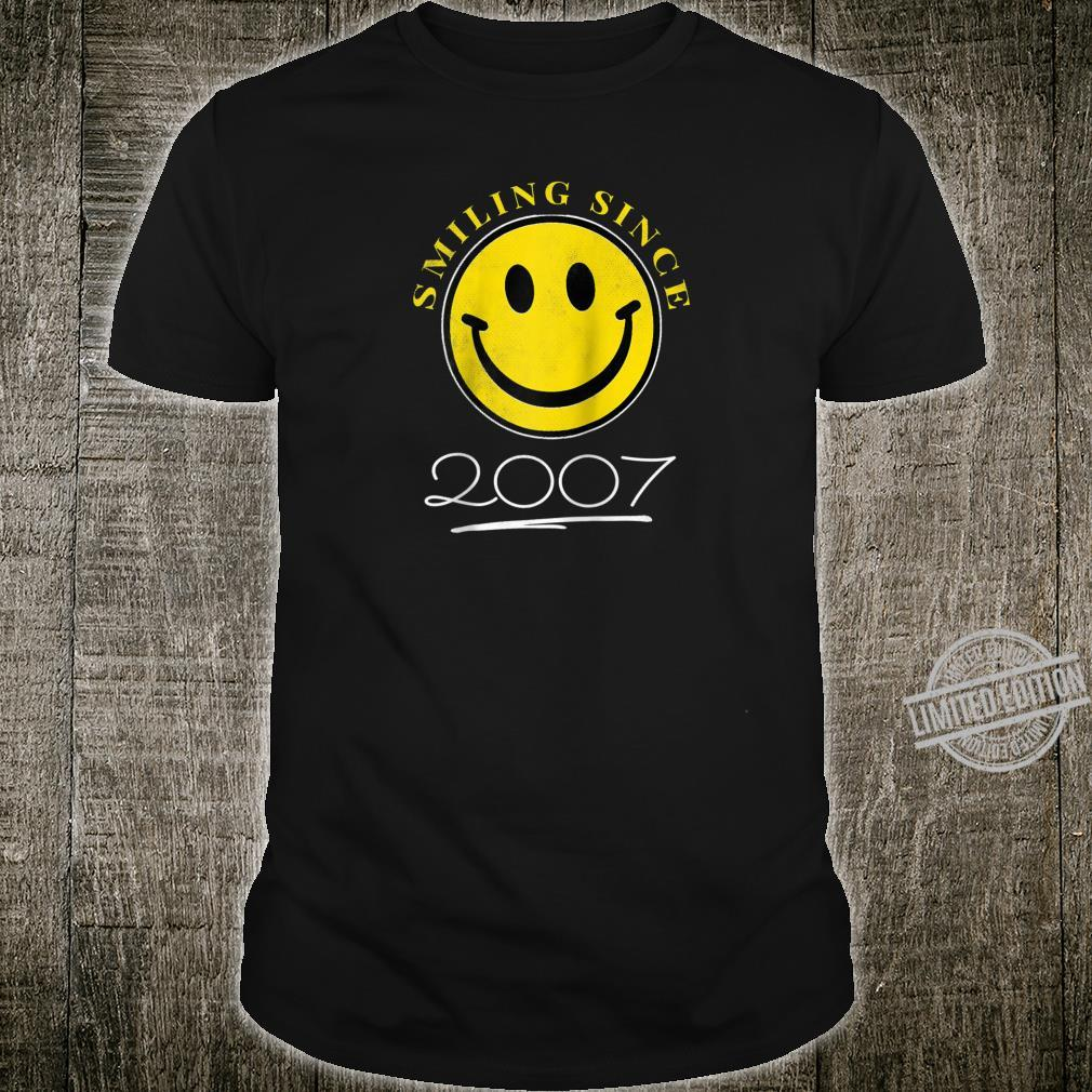 Smiling Since 2007 13th Birthday 13 Year Old Emoji Shirt