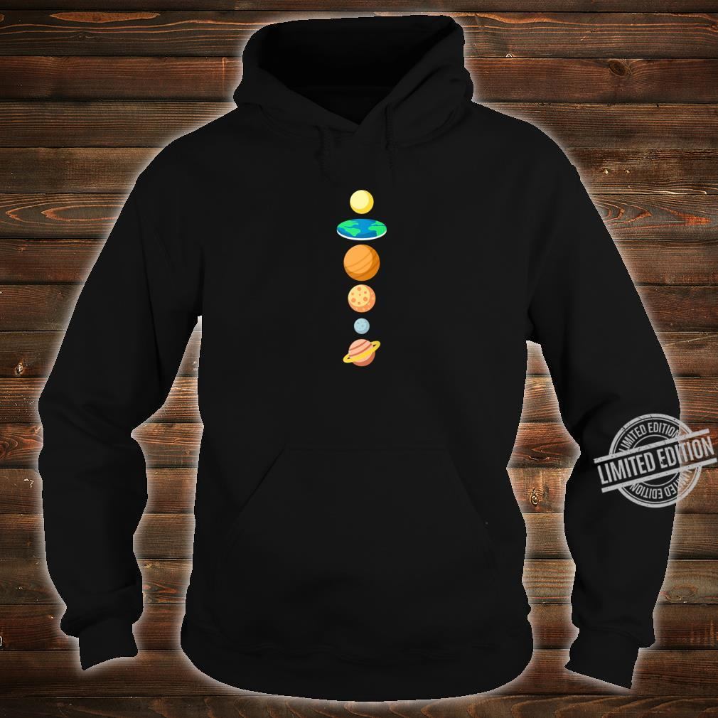 Solar System Planers Flat Earth Shirt hoodie