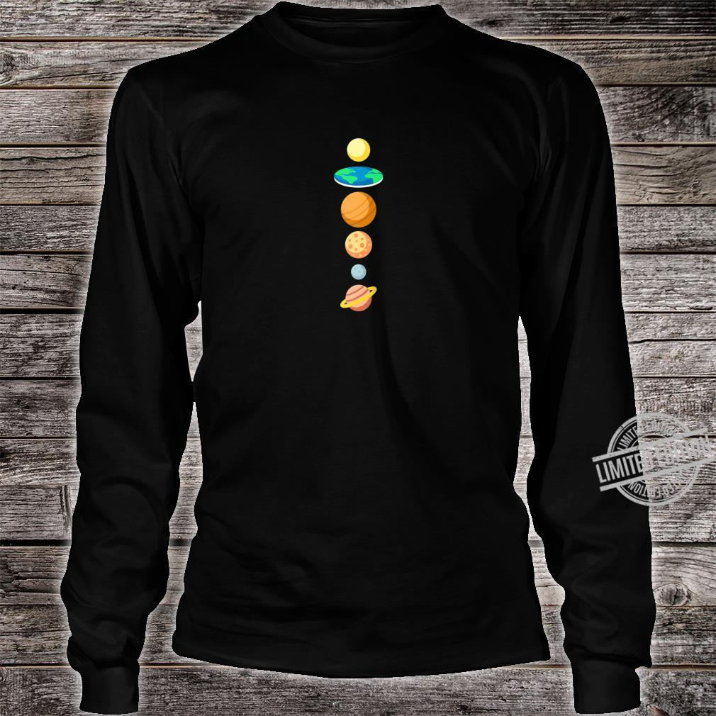 Solar System Planers Flat Earth Shirt long sleeved