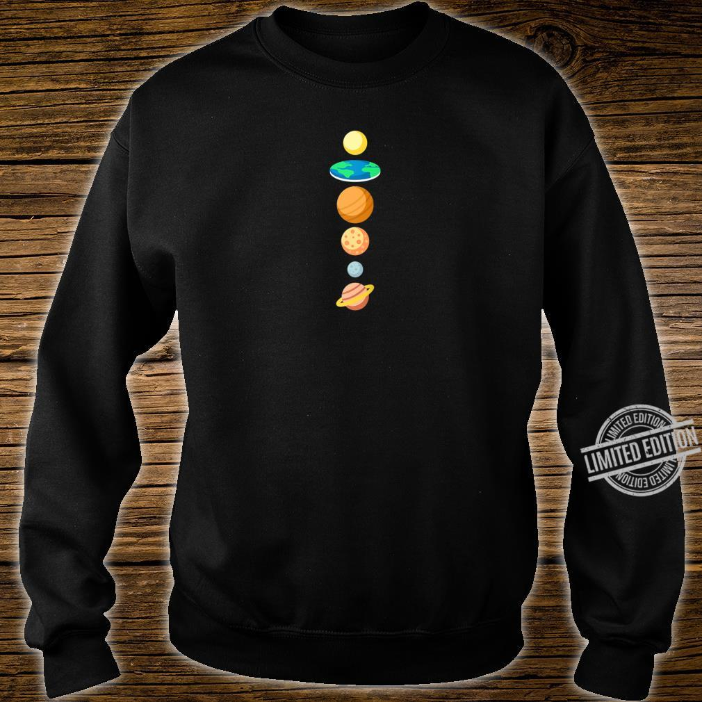 Solar System Planers Flat Earth Shirt sweater