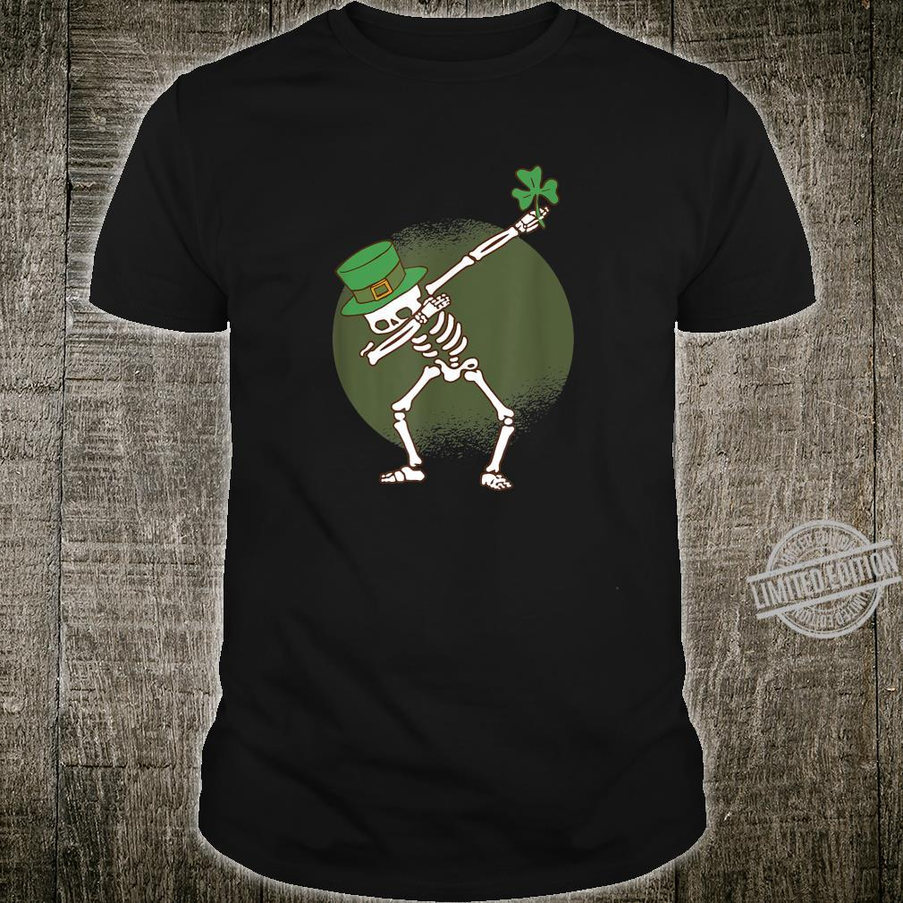 St Patricks Day Dabbing Irish Skeleton Dab Shirt
