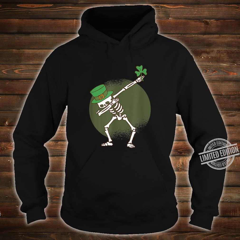 St Patricks Day Dabbing Irish Skeleton Dab Shirt hoodie