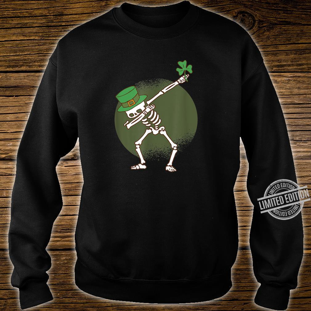 St Patricks Day Dabbing Irish Skeleton Dab Shirt sweater