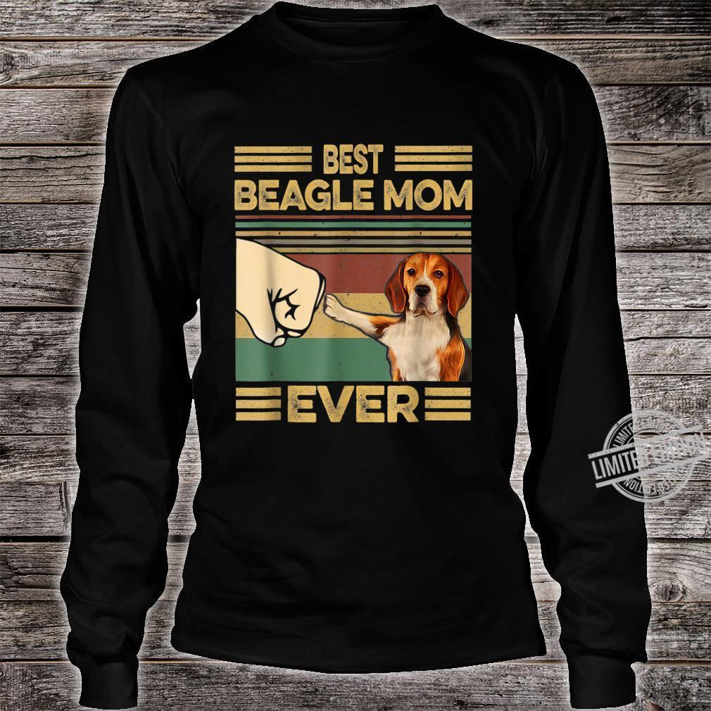 Vintage Best Beagle Mom Ever Dog for Mother's Day Shirt long sleeved