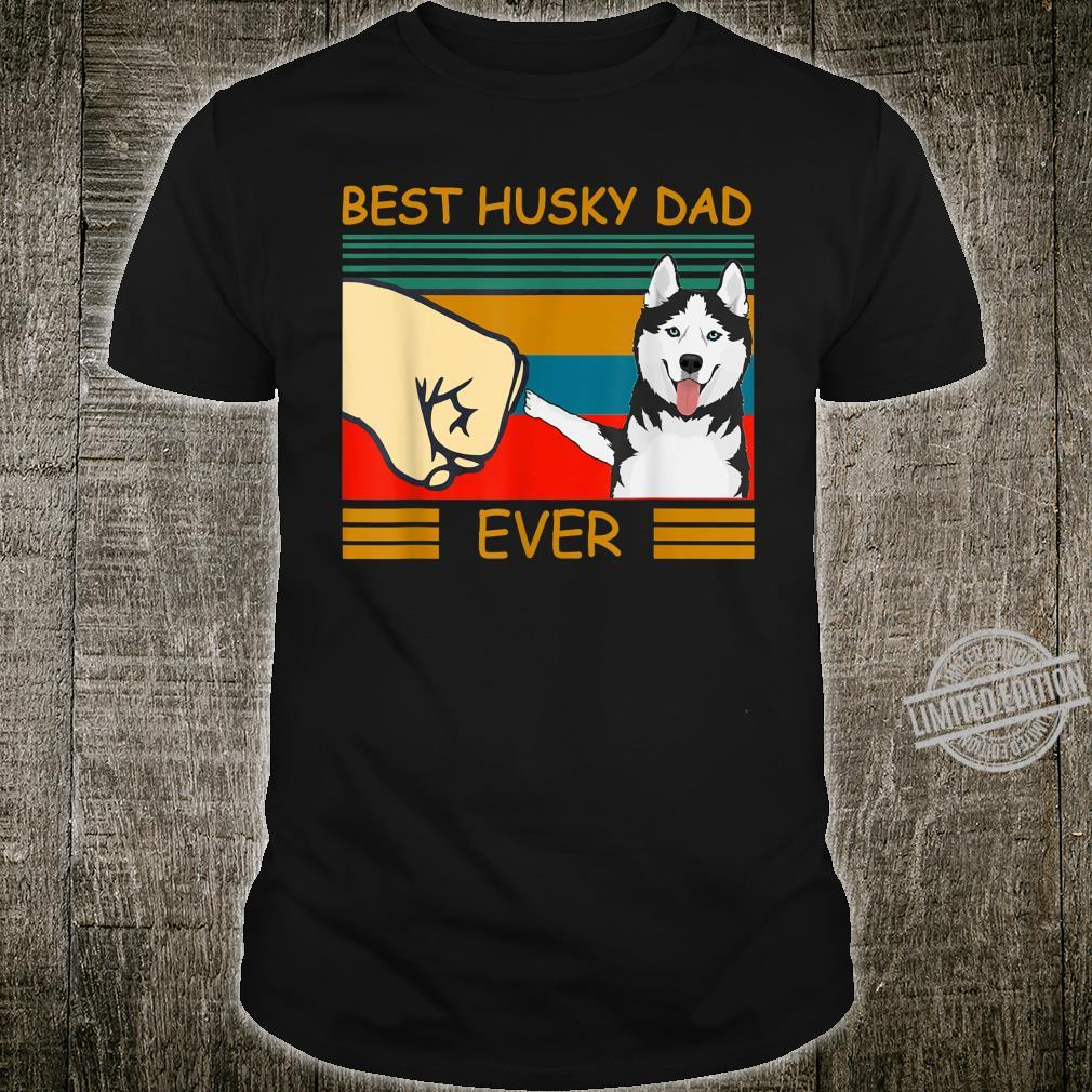 Vintage Best Husky Dad Dogs for Father's Day Shirt
