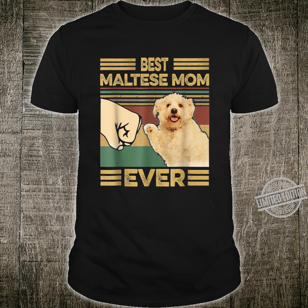 Vintage Best Maltese Mom Ever Dog for Mother's Day Shirt