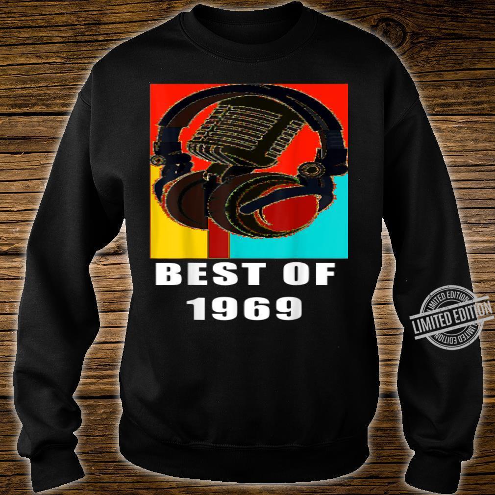 Vintage Best Of 1969 51st Birthday Mic Microphone Headphone Shirt sweater