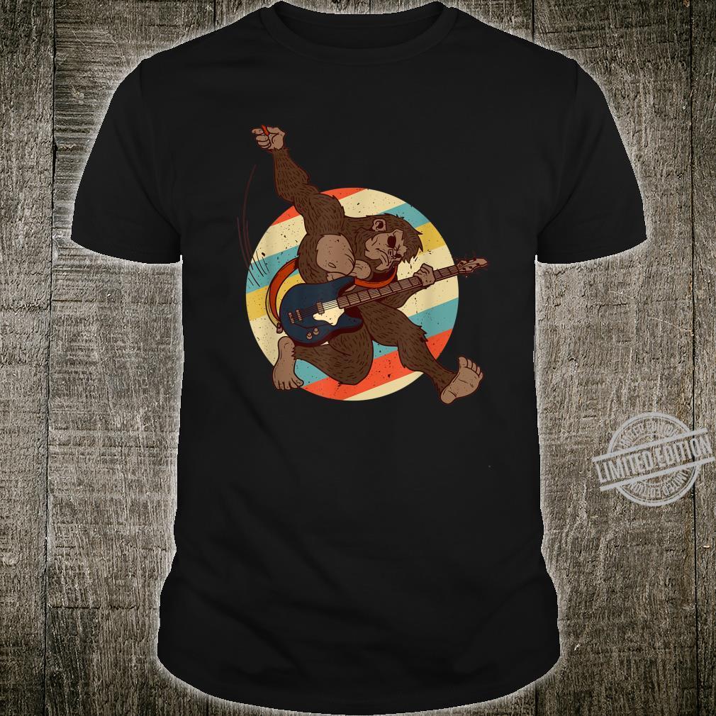Vintage Bigfoot Electric Guitarist Jump Playing Guitar Shirt